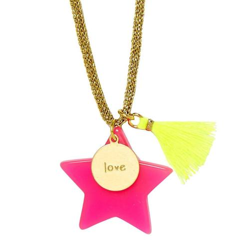 Large Star Love Pendant Necklace - Little Owly