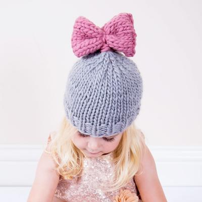 Minnie Bow Hat Knitting Kit - Little Owly