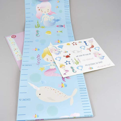 Mermaid Growth Chart - Little Owly