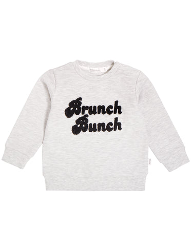 "Light Heather Grey ""Brunch Bunch"" Crew Neck Sweater"
