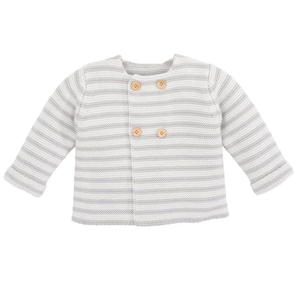 Gray Stripe Cardigan - Little Owly