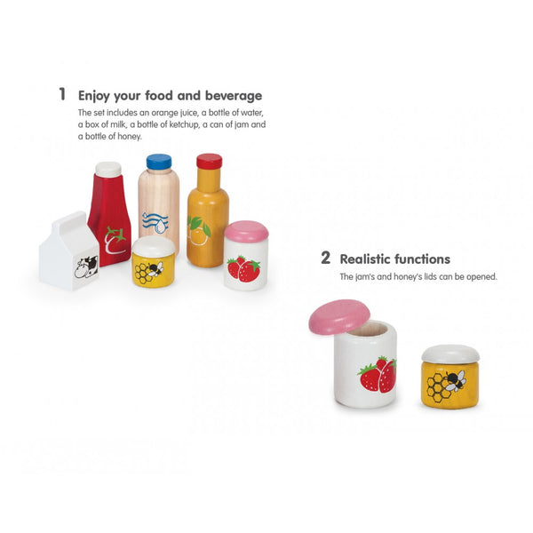 Play Food and Beverage Set - Little Owly