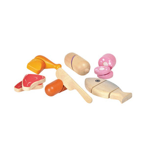 Wooden Play Meat Set - Little Owly