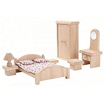 Play Classic Dollhouse Bedroom Set - Little Owly