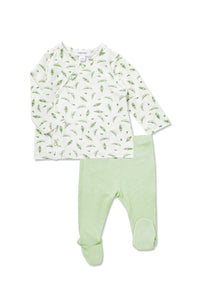Sweet Peas Bamboo Kimono Top & Footie - Little Owly