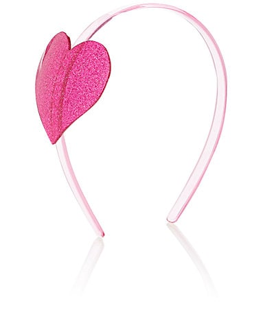 Pink Glitter Heart Headband - Little Owly