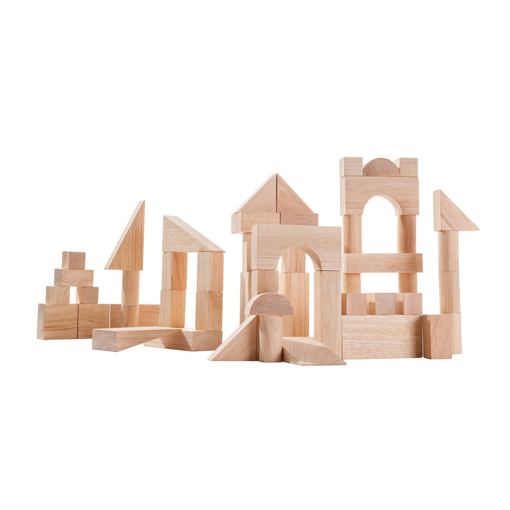 50 Piece Wooden Blocks - Little Owly