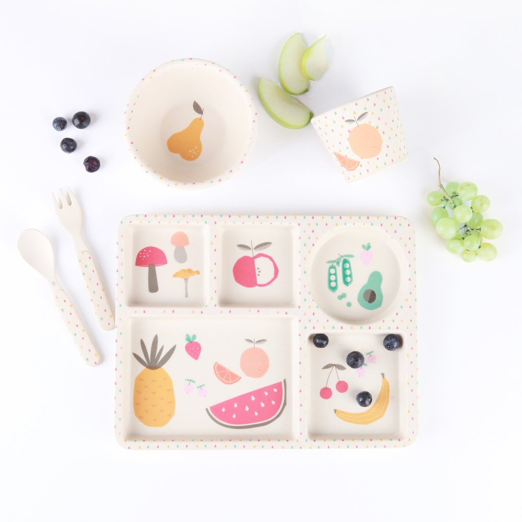 Eat Your Greens - 5 Piece Bamboo Set - Little Owly