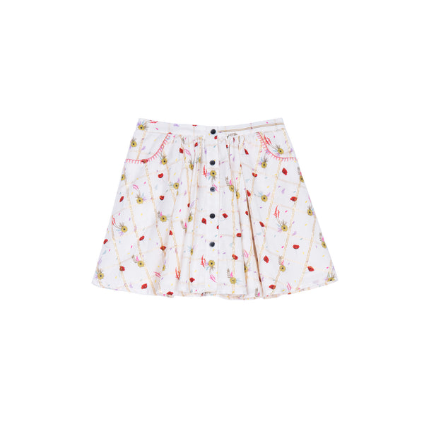 Chrissy Poppies Print Skirt - Little Owly