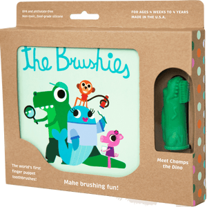 Chomps the Dino and the Brushies Book - Little Owly