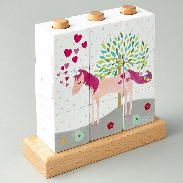 Fairy Unicorn Wooden Cube Puzzle - Little Owly