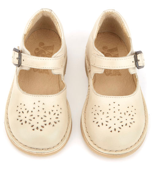 Delilah Vanilla Baby Leather Mary Jane Shoes - Little Owly