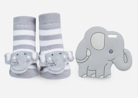 Elephant Teether Gift Set - Little Owly