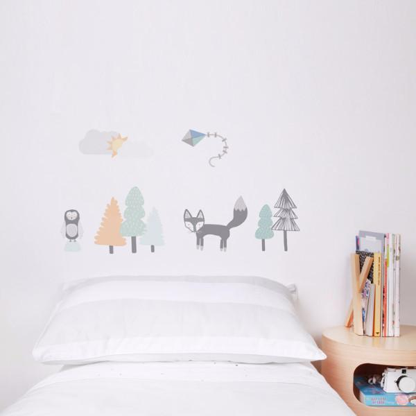 Fox and Friends Wall Decal - Little Owly