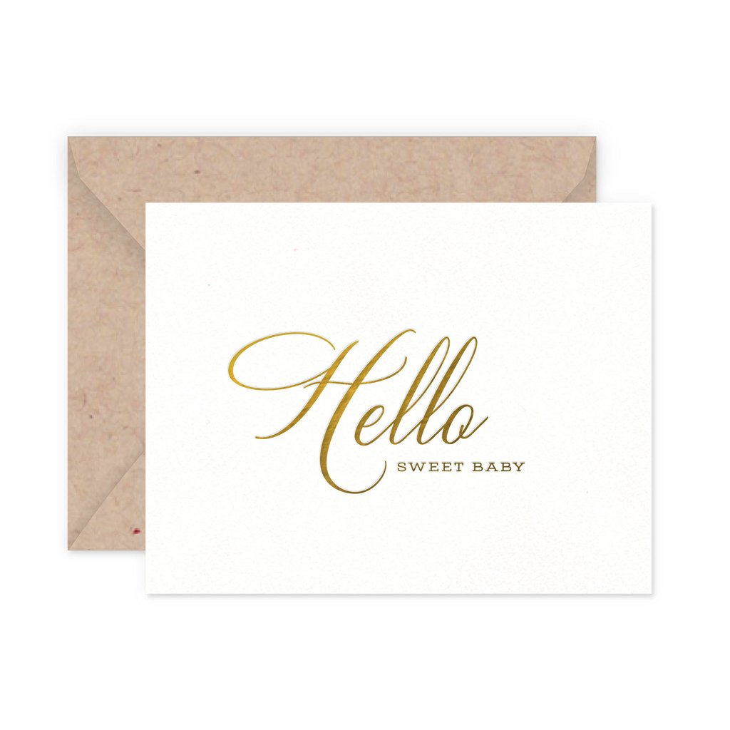 Hello Baby Greeting Card - Little Owly