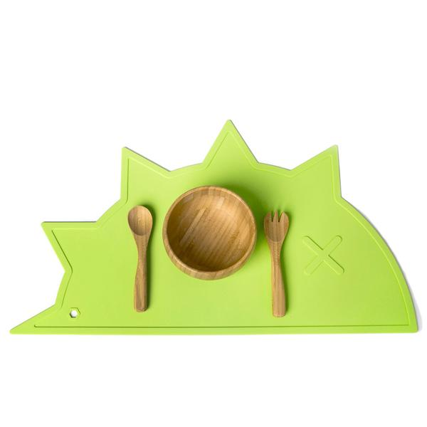 Green Hedgehog-Dino Non-Toxic Placemat - Little Owly
