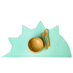 Mint Hedgehog-Dino Non-Toxic Placemat
