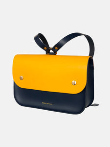 Ellison Navy & Yellow Satchel
