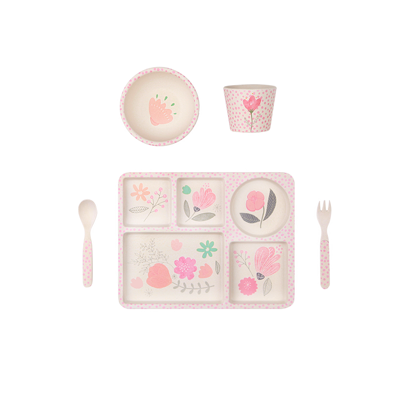 Flower Garden - 5 Piece Bamboo Set - Little Owly