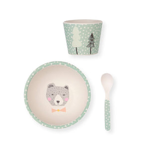 Hungry Bear Bamboo Baby Bowl Set - Little Owly