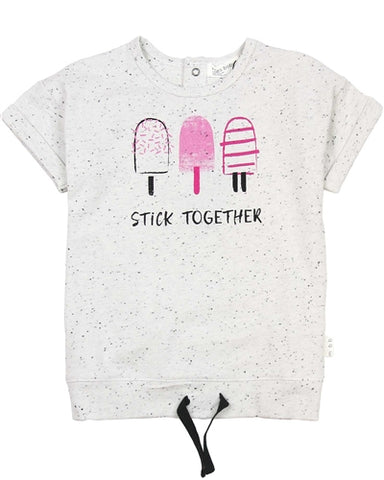 Stick Together Speckled Tee - Little Owly
