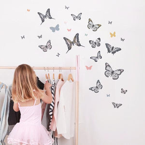Monarch Butterflies Wall Decal - Little Owly