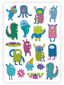 Trendy Monsters Temporary Tattoo