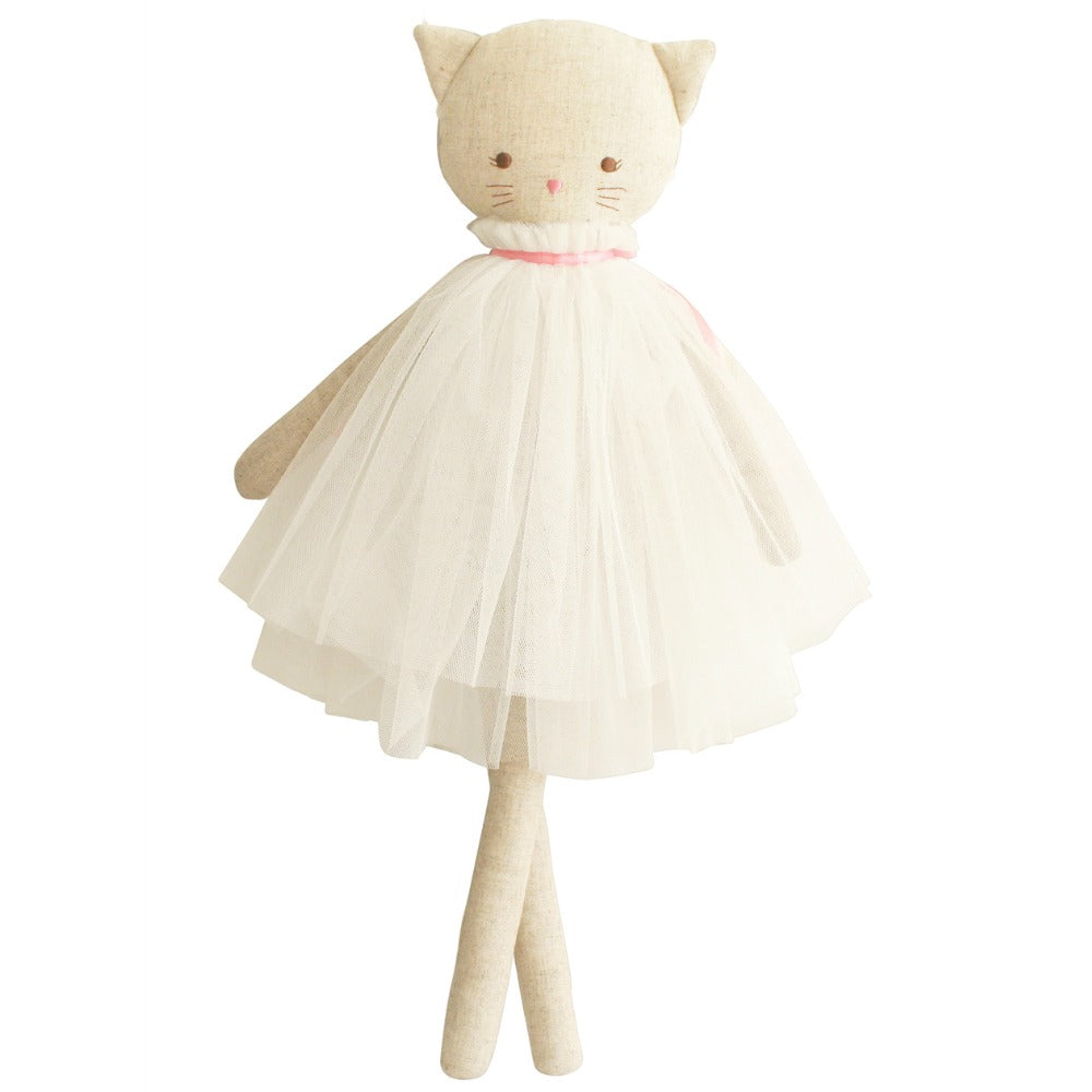 Aurelie Linen Cat Doll - Little Owly