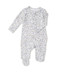Forest Owl Zip-Front Footie Pajamas - Little Owly