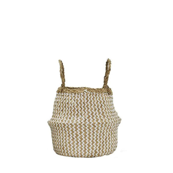 Zig Zag Small Belly Basket - Little Owly