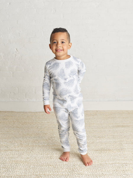 Bay Blue Hedgehog Pajama Set - Little Owly