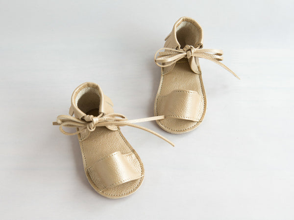 Boho Fringed Leather Sandal - Little Owly