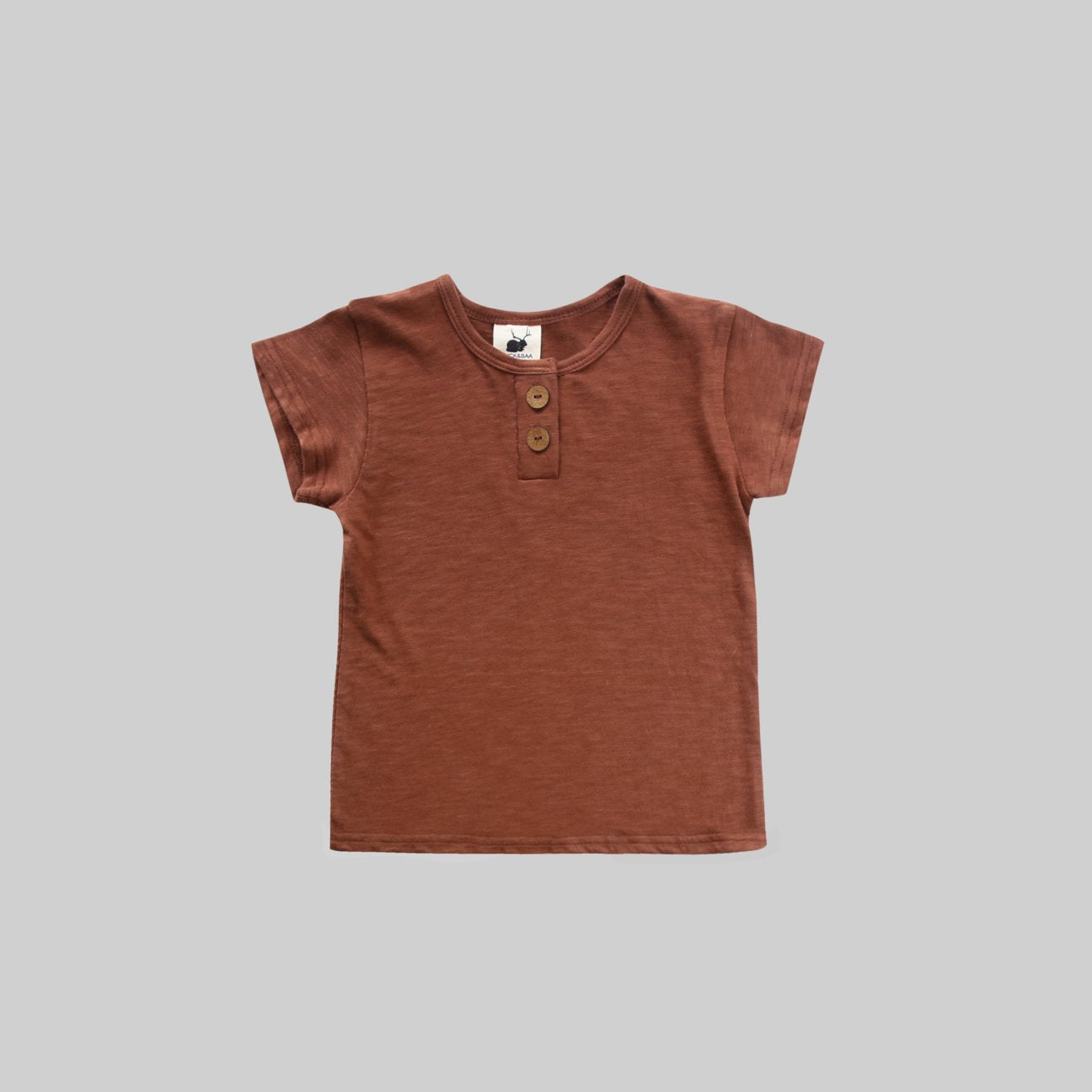 Russet Henley T-Shirt - Little Owly
