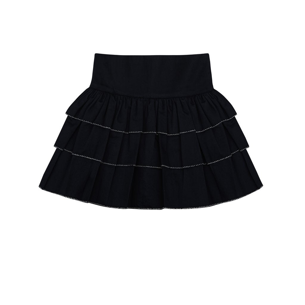 Saffron Ruffled Navy Skirt - Little Owly