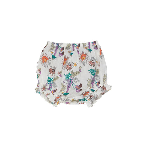 Cecily Tropical Floral Print Frill Bloomers - Little Owly