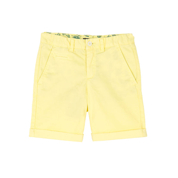 Neon Yellow Chino Shorts - Little Owly