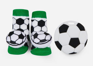 Soccer Teether Gift Set
