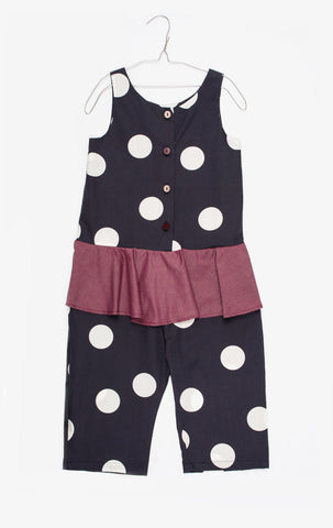 Morgane Polka Dot Overall - Little Owly