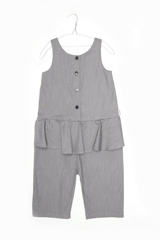 Morgane Grey Denim Overall - Little Owly