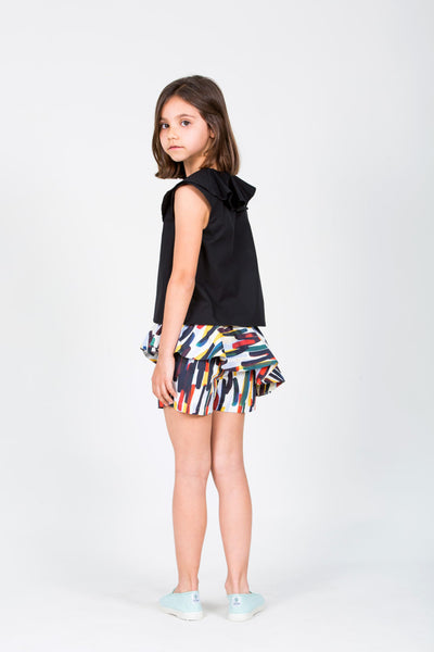 Moira Skort with Color Strokes - Little Owly