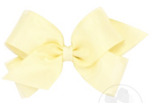 Medium Organza Overlay Hair Bow - Little Owly