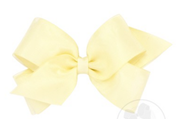 Extra Small Organza Overlay Bow - Little Owly