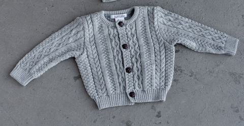 Classic Aran Knit Sweater - Little Owly