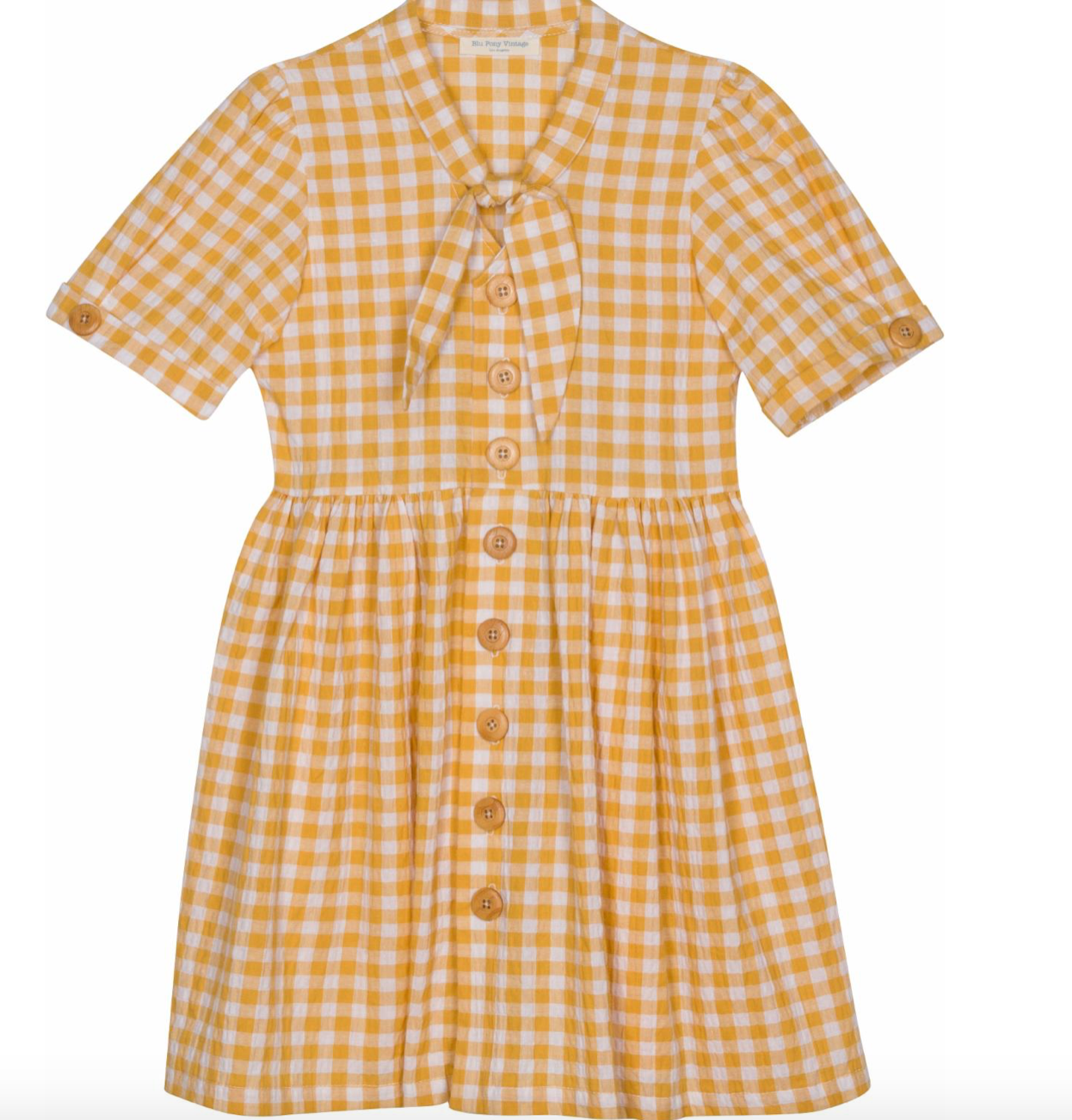 Annette Sunshine Yellow Sear Dress - Little Owly