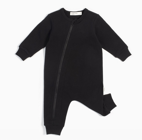 Miles Basic Black Playsuit - Little Owly