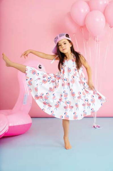 Flamingo Shoulder Strap Dress - Little Owly