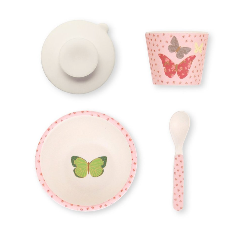 Butterflies Baby Feeding Set - Little Owly