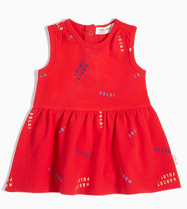 "Red ""Marco Polo"" Dress - Little Owly"