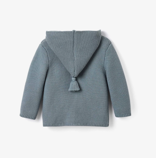 Hooded Tassel Knit Baby Sweater - Little Owly