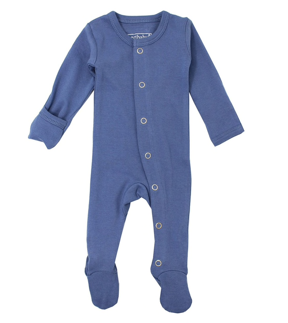 Organic Jumpsuit in Slate - Little Owly